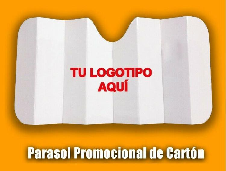 PARASOLES PUBLICITARIOS DE CARTON PARA AUTO