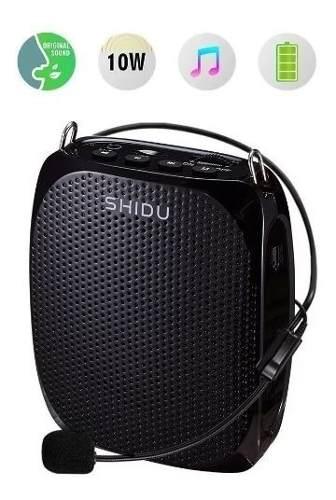 Portatil Amplificador De Voz Shidu 10w Microfono