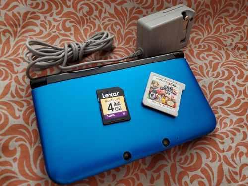 Remato Nintendo 3ds Xl Azul Juego Smash Bros Original Buen E
