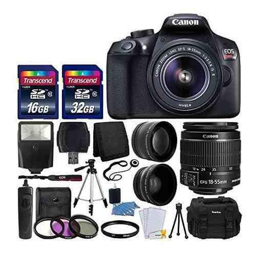 Canon Eos Rebel T6 Digital Slr Camera With mm Ef-s F/3.