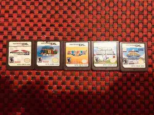 Lote De Juegos Mario Para Nintendo Ds