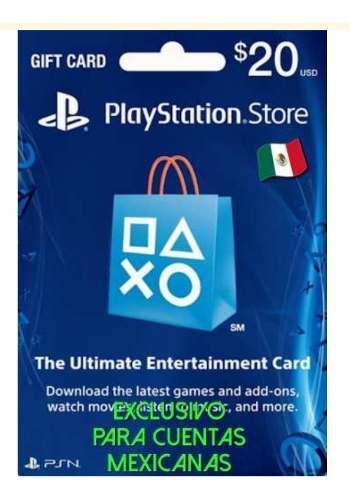 Tarjeta Playstation Network 20 Usd Región México -