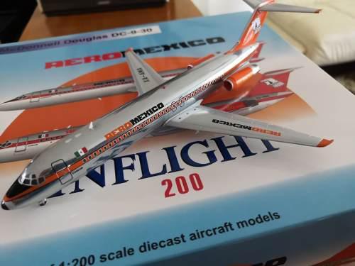 Aeromexico Dc-9-30 Inflight 1:200 50 Aniversario Cancun