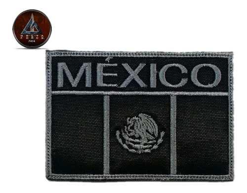 Bandera De Mexico Bordada G/n / Parche / Sector Con Velcro