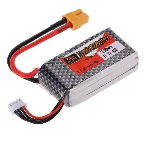 Batería Lipo 11.1v 1500mah 30c Alta Descarga Xt60 Sumobot
