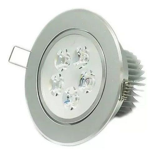 Empotrado Plafon Led 5w Spot Dirigible Satinado Luz Blanca