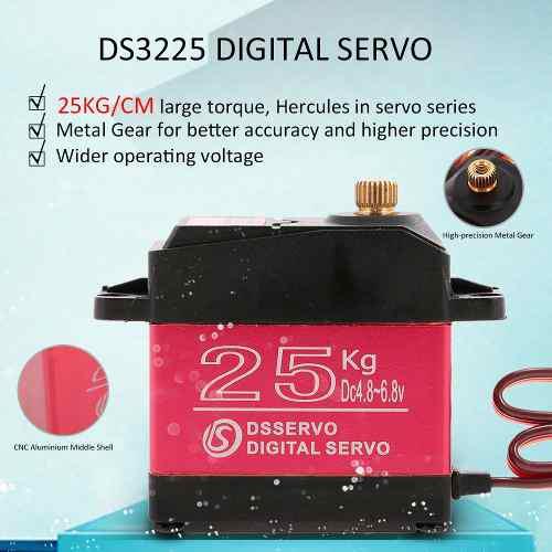 Engranaje De Alto Torque Dsservo Ds3225 25 Kg Metal