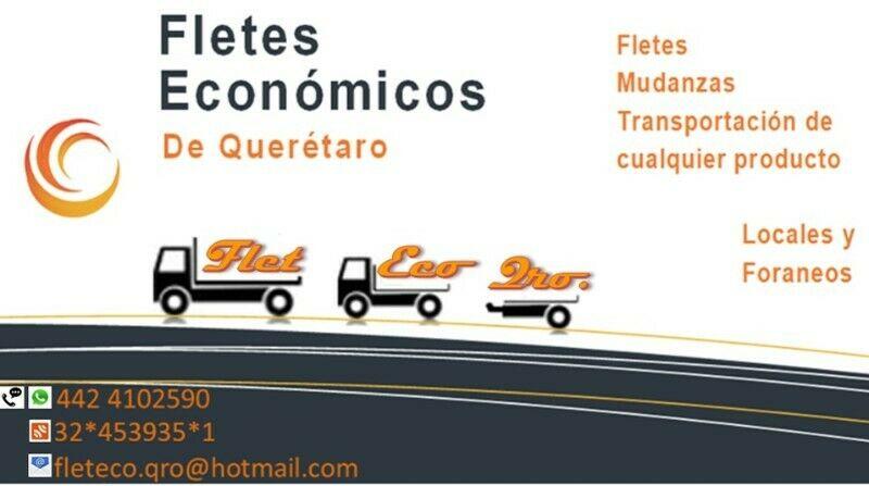 FletEco Querétaro Fletes Económicos de Querétaro