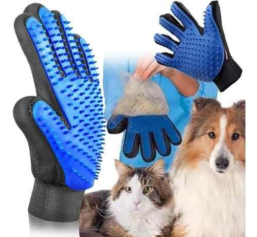Guante Quita Pelos Cepillo Maseajador Mascotas Perro Y Gato