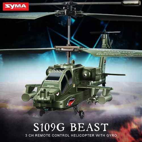 Helicoptero Apache Radio Control Syma S109g