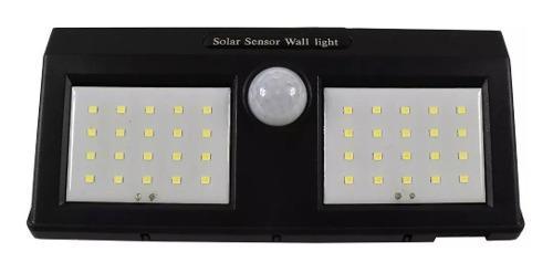 Lámpara Solar Energía 40 Leds Sensor Exterior Recargable