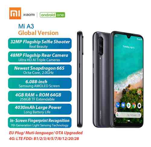 Versión Global Xiaomi Mi A3 4g/64gb Teléfono Móvil ma
