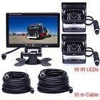 7 Tft Lcd Monitor+4pin Dual Backup Camera Safety System For