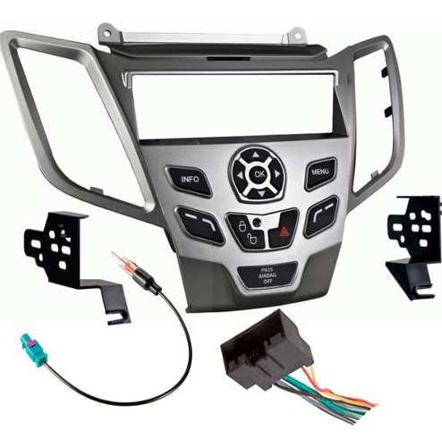 Kit Base Estereo 1 Din P/ Ford Fiesta Año 11-14 Gris Y