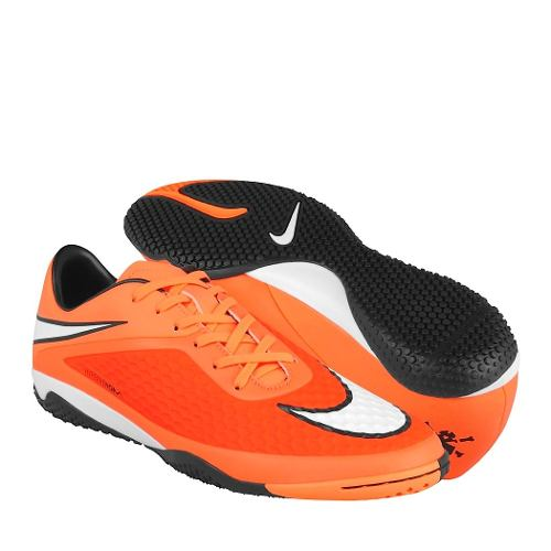 Tenis De Fútbol Nike Para Hombre Simipiel Naranja Con