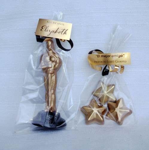 100 Mini Estatuilla Premio Oscar Fiesta Hollywood.