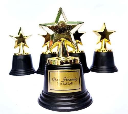 12 Estrella Trofeo Premio Estatuilla Dorada 12cm Fiesta