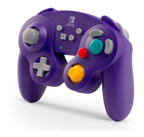 Control Switch Inalámbrico Gamecube Morado Nuevo