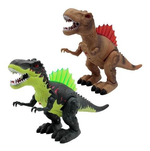 Dinosaurio Juguete T Rex Lanza Humo Luz Y Sonido Camina