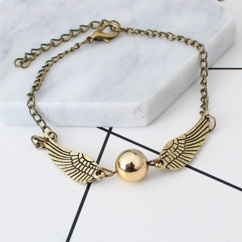 Harry Potter Snitch Dorada Golden Quidditch Pulsera Alas Br
