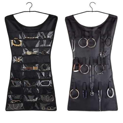 Joyero Organizador En Forma De Vestido Negro - V