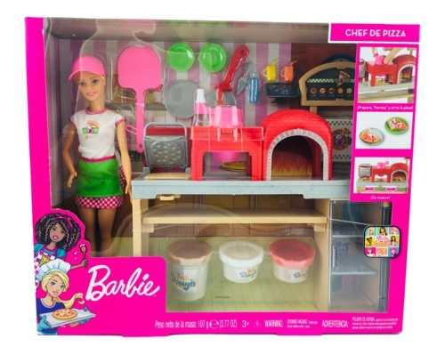 Barbie Chef De Pizza Con Masa Y Accesorios Mattel