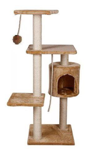 Mueble Rascador Para Gato Con Casa 112 Cm