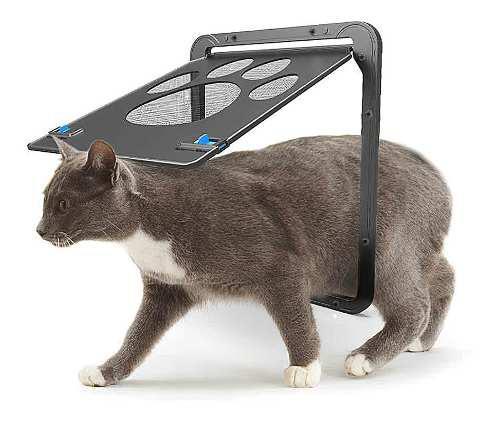 Puerta De Malla Para Mascotas Puerta Magnética Con Solapa