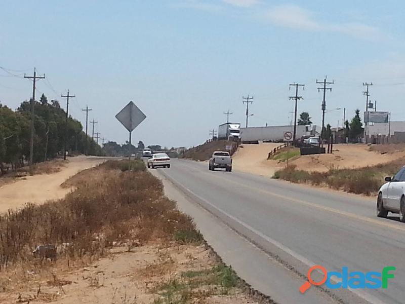 Vendo Terreno Comercial Frente a Carretera en San Quintin,