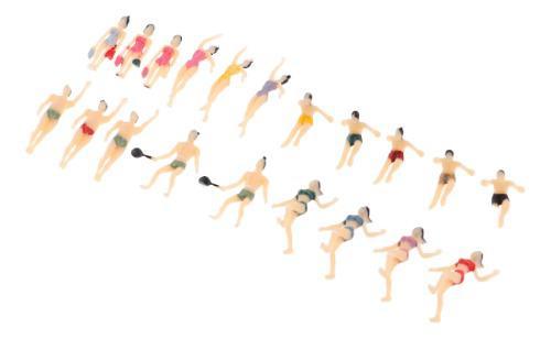 20 Piezas Modelo Figuras Pintadas Personas Mujeres Hombres