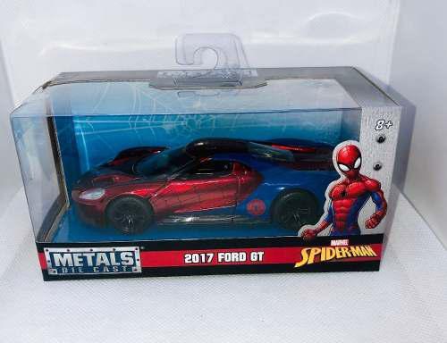 Die Cast 2017 Ford Gt Spider Man Marvel 1:32 Automovil