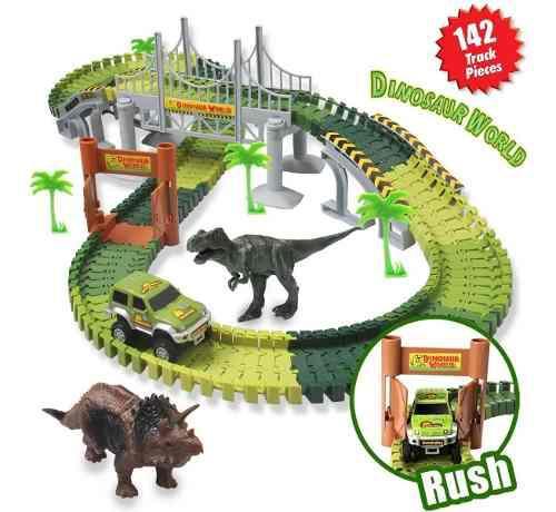 Pista D Carros Flexible Jurassic World 142pcs 1 Car