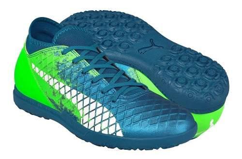 Tenis De Soccer Para Caballero Puma 10433903 Azul Verde