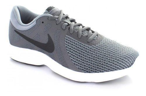 Tenis Nike Revolution 4 Color Gris Para Hombre Envío Gratis