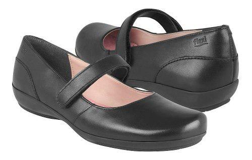Zapatos Casuales Flexi Para Mujer Piel Negro 17227