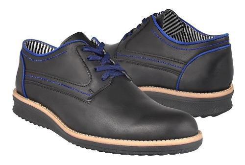 Zapatos Casuales Stylo 209 Simipiel Negro