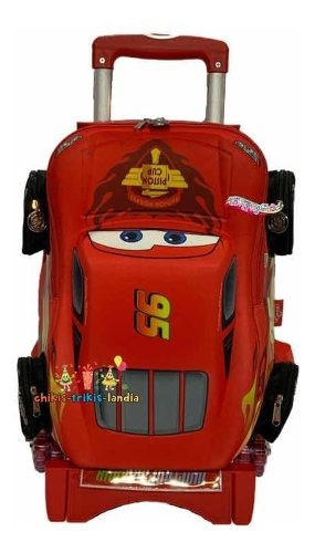 Cars 3 Mochila 3d Original Primaria Carro Ruedas Original