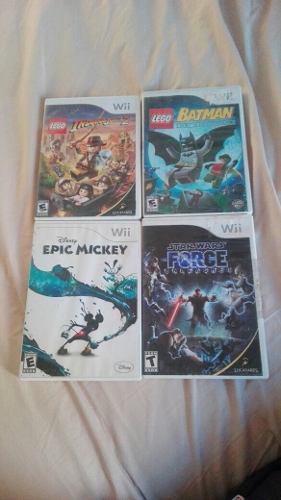 Envio Gratis Lote 4 Juegos Nintendo Wii Lego Mickey Star War