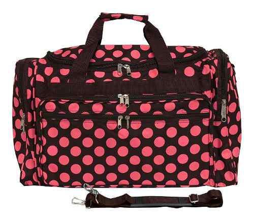 Equipaje 19 -inch Bolso De Viaje Bolsa, Marrón Rosa Punto