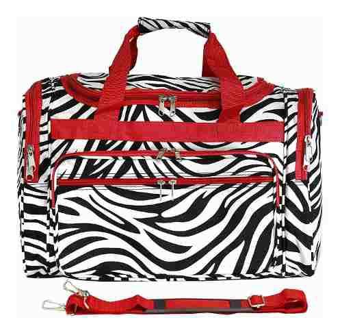 Equipaje 19 -inch Bolso De Viaje Bolsa, Rojo Recortar Cebra