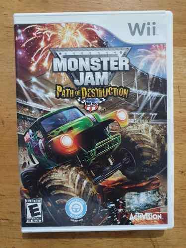 Juego Wii Monster Jam Path Of Destruction Original Usado Del