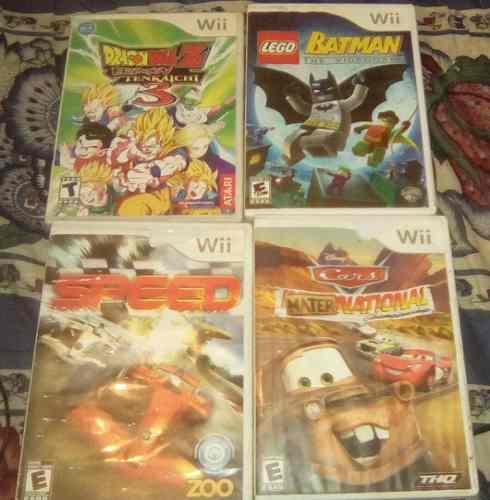 Lote De 4 Juegos Para Wii
