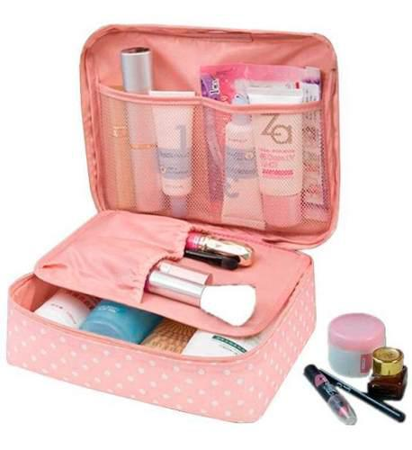 Maleta Bolsa Cosmetiquera Organizadora De Viaje Rosa H8075