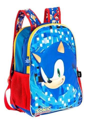 Mochilas Reversible Primaria Escolar Sonic Originales