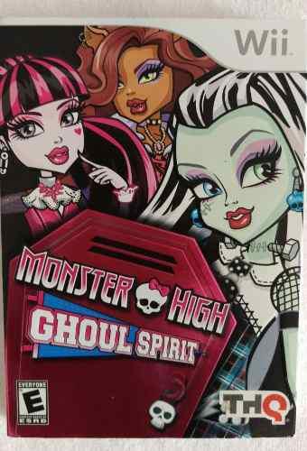 Monster High Juego Para Wii Nuevo!!