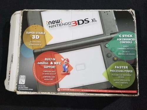 New Nintendo 3ds Xl Negro Con Caja + Juegos Digitales