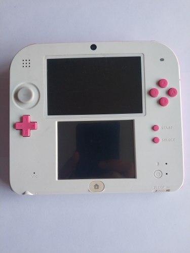 Nintendo 2ds Blanca Con Rosa Con Juegos Instalados