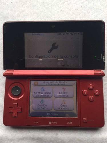 Nintendo 3ds Rojo Para Piezas O Reparacion