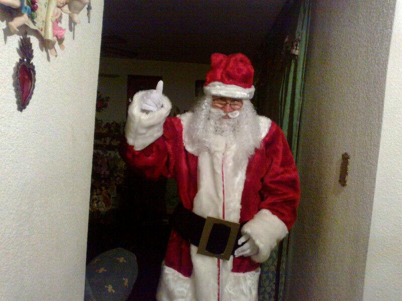 Santa Claus para entrega de regalos a domicilio