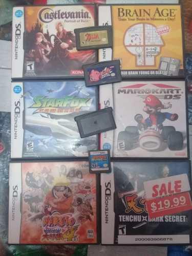 7 Juegos Para Nintendo Ds + 3 Gba